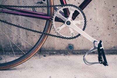 Poster Road-Fahrrad und Betonwand, städtische Szene Vintage-Stil