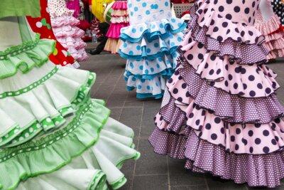 Poster Röcke des spanischen Flamenco-Tänzer