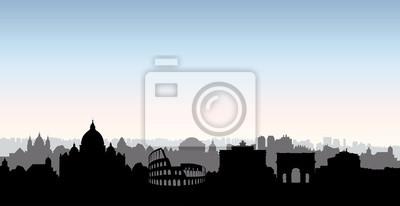 Rom Stadt Gebäude Silhouette. Italienischen stadtlandschaft. Rom ci