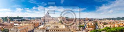 Poster Rom und Basilika von St. Peter im Vatikan