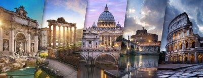 Poster Rom und Vatikan Italie