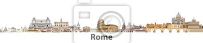 Poster Rom-Vektor-Skyline der Stadt