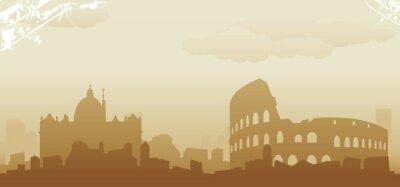 Poster roma Skyline