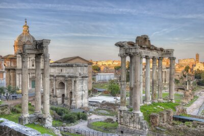 Poster Roman Forum Sunset HDR