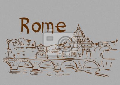 Rome vintage illustration