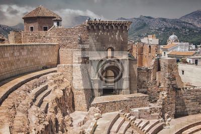 Römischen Ruinen Theater in Cartagena, Spanien