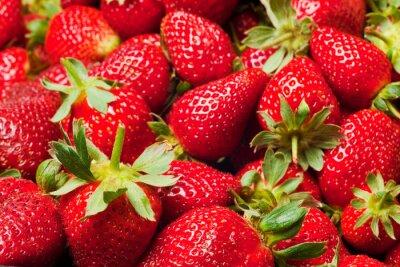 Poster rote Erdbeeren
