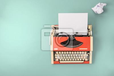 Poster Rote Schreibmaschine (Draufsicht)