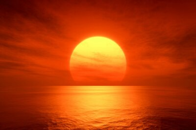 Poster roten Sonnenuntergang