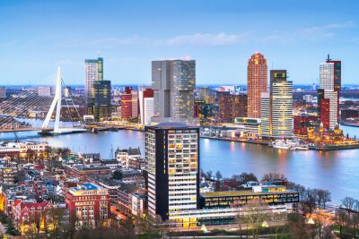 Poster Rotterdam, Netherlands Skyline