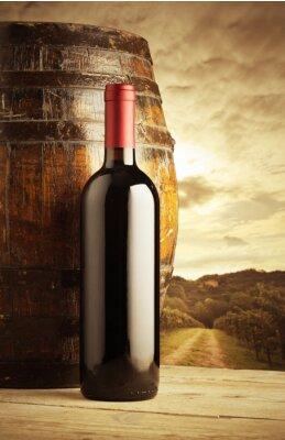 Poster Rotwein-Flasche
