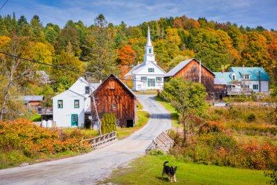 Poster Rural Vermont, USA at Waits River Village