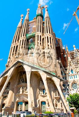 Sagrada Família. Ansicht der Passion Fassade.