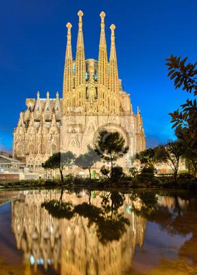 Sagrada Familia bei Nacht, Barcelona