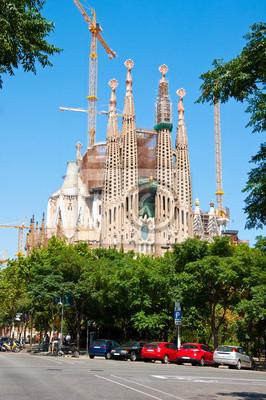 Sagrada Família die Hauptfassade. Barcelona.
