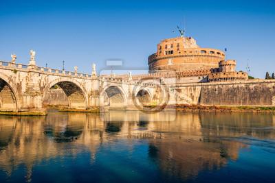 Saint Angel Castle und Brücke über den Tiber in Rom