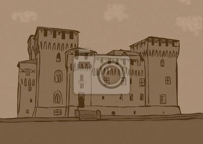 Saint George Schloss in Mantova, Italien Jahrgang