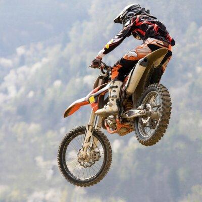 Poster salto con moto da cross
