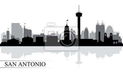 San Antonio Stadt Skyline Silhouette Hintergrund