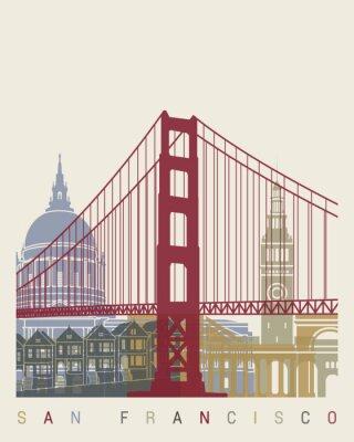 Poster San Francisco Skyline-Plakat