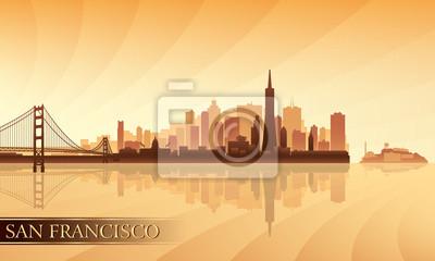 San Francisco Skyline Silhouette Hintergrund