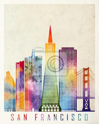 San Francisco Wahrzeichen Aquarell Poster