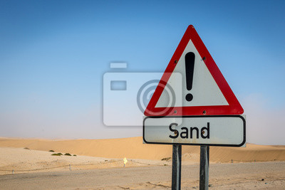Sand Signal Board in the Desert, Namibia, Africa