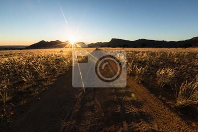 Sandy track in namibia.