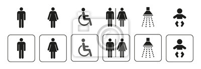 Poster Sanitär Symbole