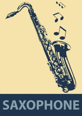 Poster Saxophone Pop-