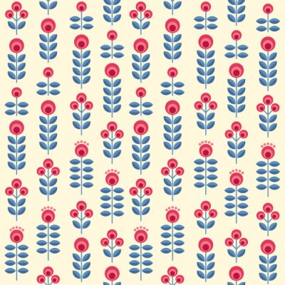 Poster Scandinavian flowers