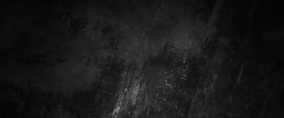 Poster Scary dark walls, slightly light black concrete cement texture for background