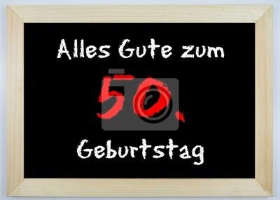 Schild Alles Gute Zum 50 Geburtstag Wandposter Poster Gluck 50