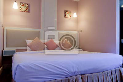 Schlafzimmer Mit Modernen Mobeln Wandposter Poster Bettdecke