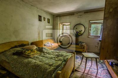 Schlafzimmer Von Haus Im Wald Wandposter Poster Stelle