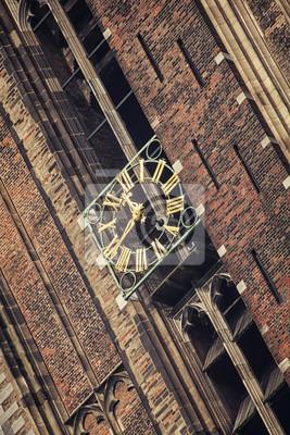Schließen Blick auf die Uhr Domturm in Utrecht, Niederlande