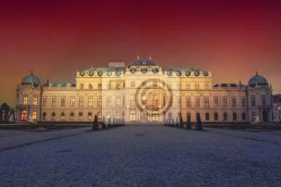 Schloss Belvedere in Wien bei Nacht