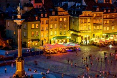 Poster Schlossplatz in Warschau