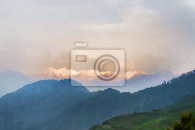 Schnee Bereich Berge im Frühjahr Himalaya Malerei