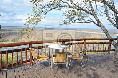 Schöne Aussicht auf den Fluss vom Campingplatz Restaurant in Kruger NP