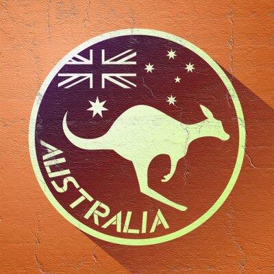 Poster Schöne australien-symbol