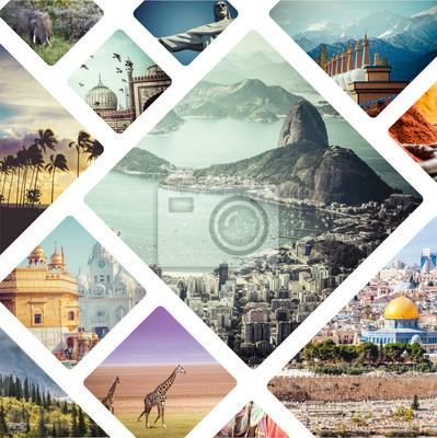 Poster Schöne Feriencollage gebildet von den mahy Fotos.