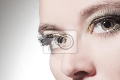Poster schöne Frau Augen close up