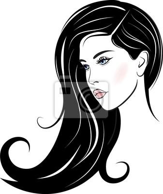 Poster schöne Frau Gesicht