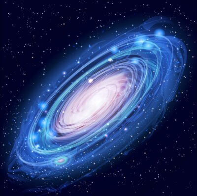 Poster Schöne Glowing Vector Andromeda-Galaxie
