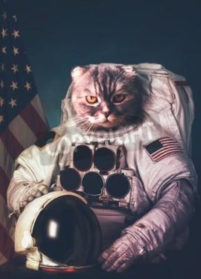 Poster Schöne Katze Astronaut.