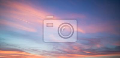 Poster Schöne Pastell bewölkten Sonnenuntergang