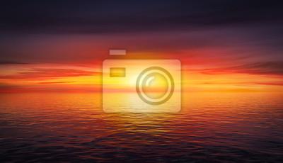 Poster Schöne Sommer Sonnenuntergang