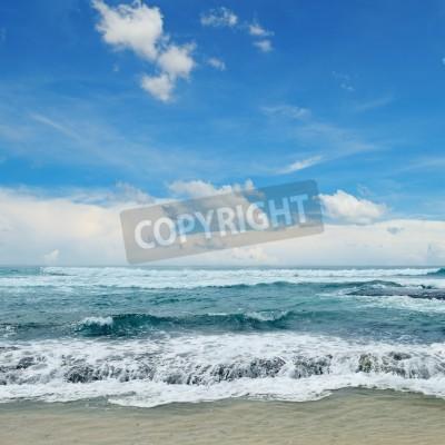 Poster Schöne Wellen im Meer