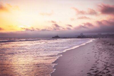 Poster Schöner Strand auf Sonnenuntergang